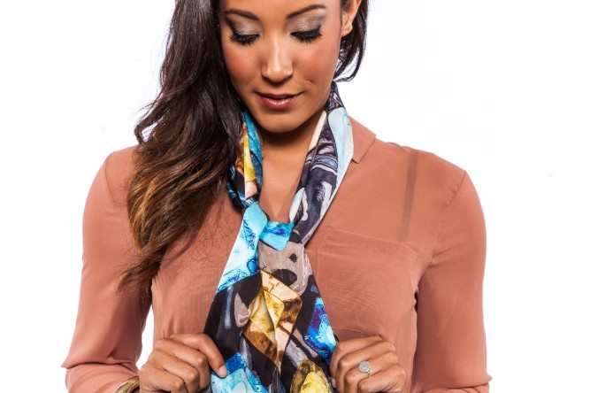 How to Tie a Scarf Around Any Neckline